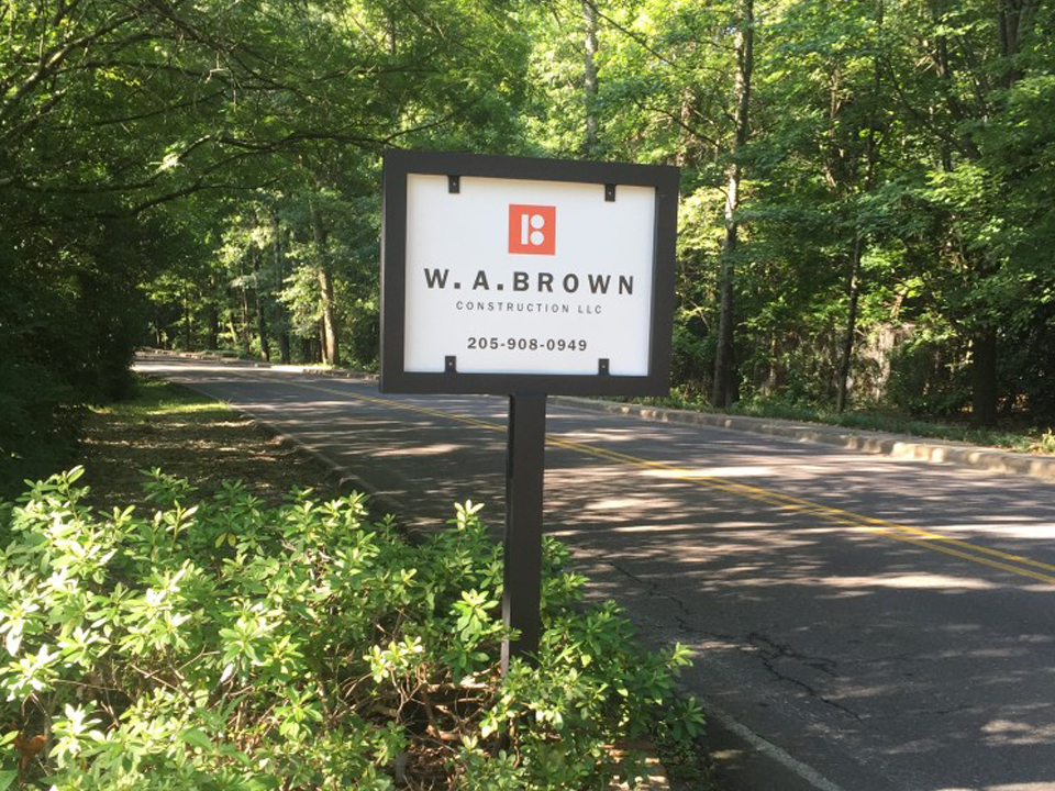 W.A. Brown Construction Sign
